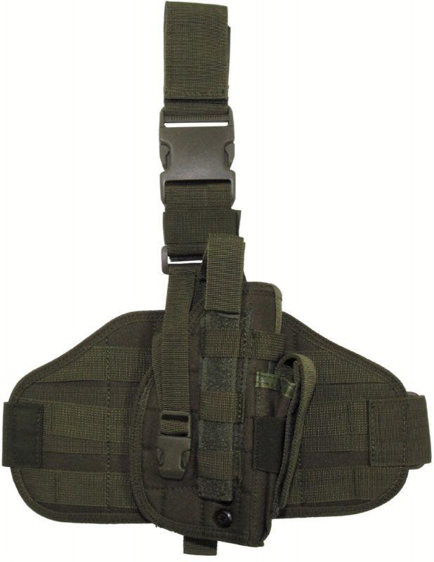 Takticke stehenné púzdro MOLLE MAX so zásobníkom, olivové, 30708B