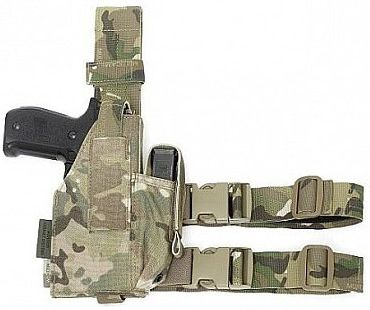 Warrior Elite Ops Drop Leg Holster Adjustable MultiCam (W-EO-DLH-MC)