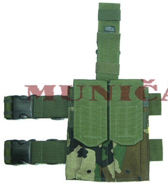GUARDER Stehenné puzdro na zásobníky AK/P90 - woodland, (T-05C(WC))