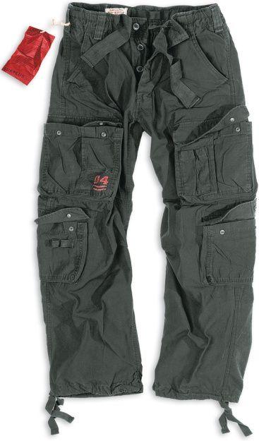 SURPLUS Dlhé nohavice Vintage Airborne - čierne (05-3598-63)