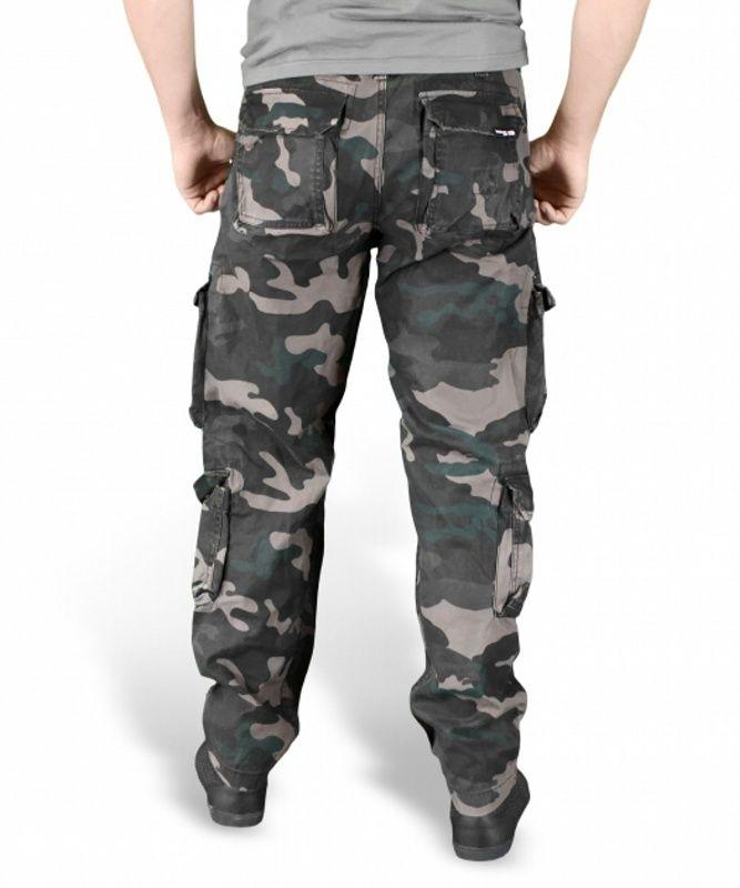 SURPLUS Dlhé nohavice Slimmy Airborne - black camo, (05-3603-42)