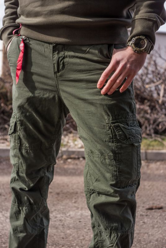 ALPHA INDUSTRIES Dlhé nohavice RS Cargo Pant - dark olive, (178205/142)