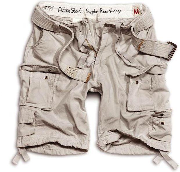 SURPLUS krátke nohavice Division, biele, 07-5598-19