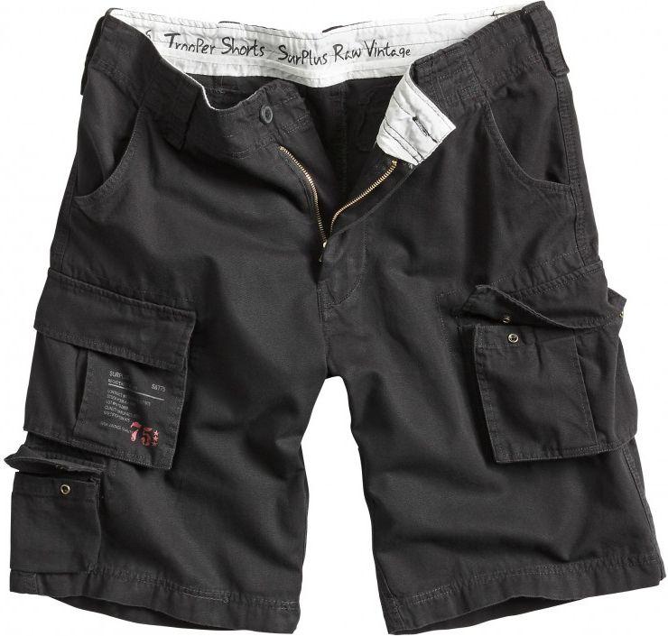 SURPLUS krátke nohavice Trooper, čierne, 07-5600-63