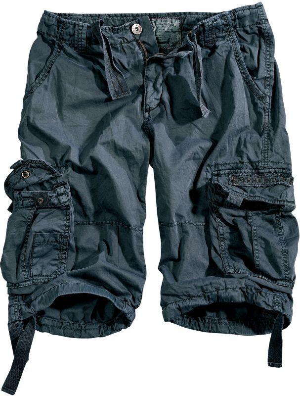 ALPHA INDUSTRIES krátke nohavice Jet, Short, šedo čierne, 191200/136