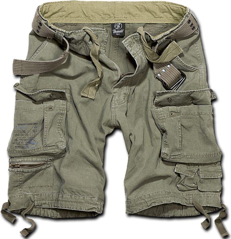 BRANDIT Krátke nohavice SAVAGE VINTAGE - olivové, (2001/1)