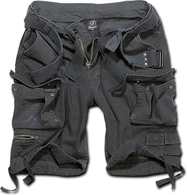 BRANDIT Krátke nohavice SAVAGE VINTAGE - čierne, (2001/2)