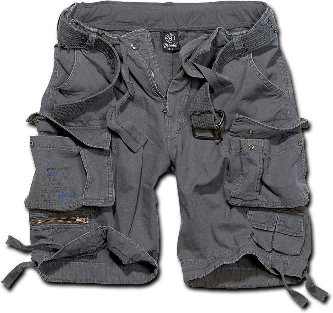 BRANDIT Krátke nohavice SAVAGE VINTAGE - šedé, (2001/5)