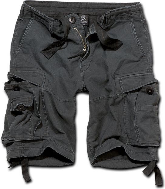 BRANDIT Krátke nohavice VINTAGE SHORTS - čierne (2002/2)