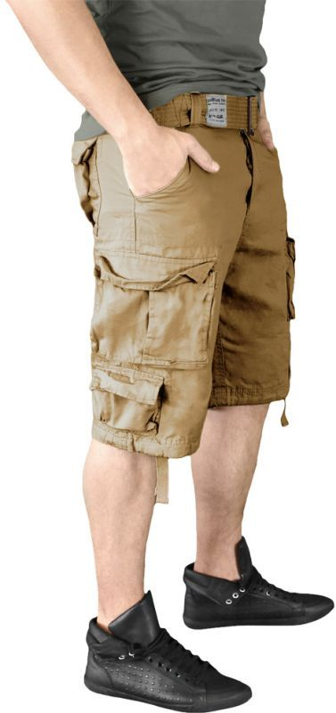SURPLUS krátke nohavice Division, béžové, 07-5598-74