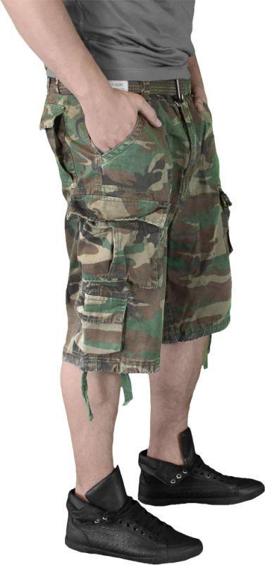 SURPLUS krátke nohavice Division, woodland, 07-5598-62