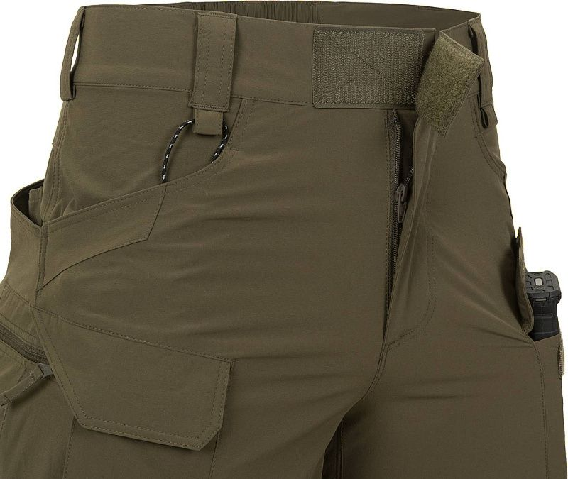 HELIKON Krátke nohavice OTUS VersaStretch - čierne (SP-OTU-VL-01)