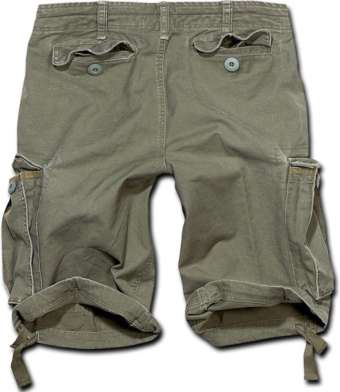 BRANDIT krátke nohavice Vintage Shorts, olivové, 2002/1