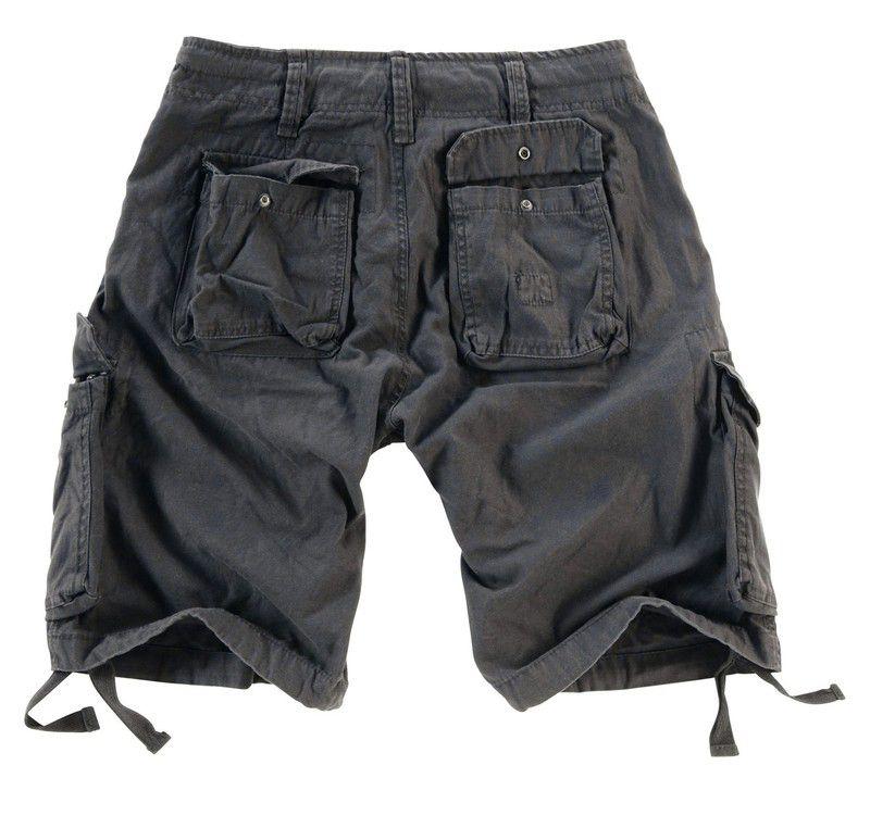SURPLUS krátke nohavice Vintage Airborne, čierne, 07-3598-63