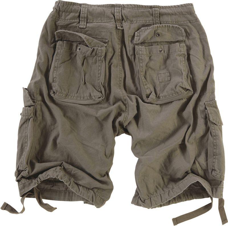 SURPLUS krátke nohavice Vintage Airborne, olivové, 07-3598-61