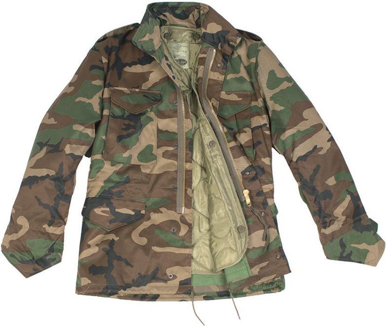 MILTEC Detská bunda M65 s futrom - woodland (12002020)