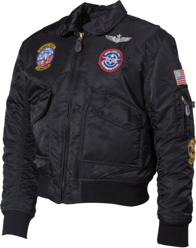 Detská letecká bunda CWU, čierna, 17352A