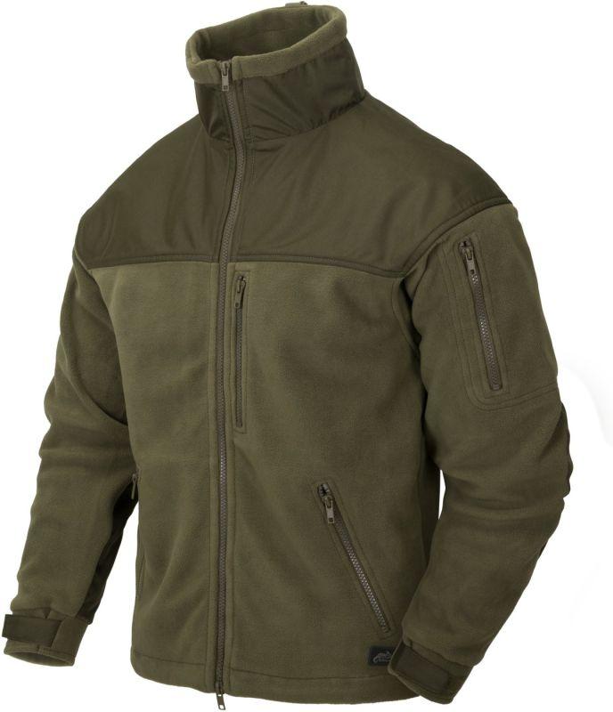 HELIKON bunda Classic Army, fleece, olivová, BL-CAF-FL-02