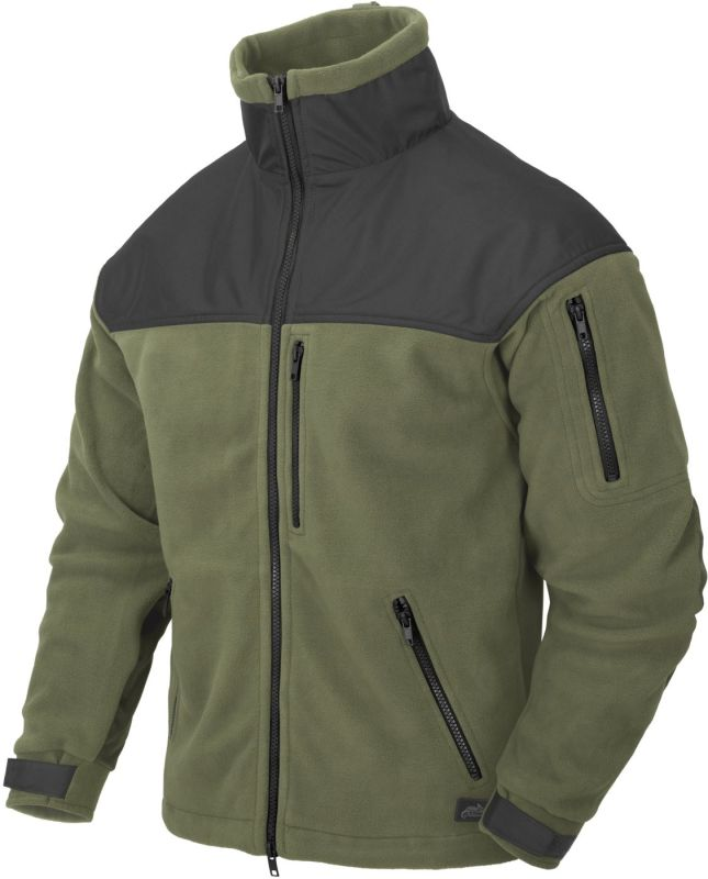 HELIKON bunda Classic Army, fleece, olivová/čierna, BL-CAF-FL-16