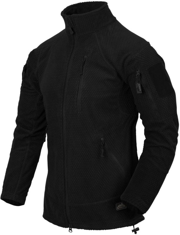 HELIKON Bunda Alpha Tactical Grid Fleece - čierna, (BL-ALT-FG-01)