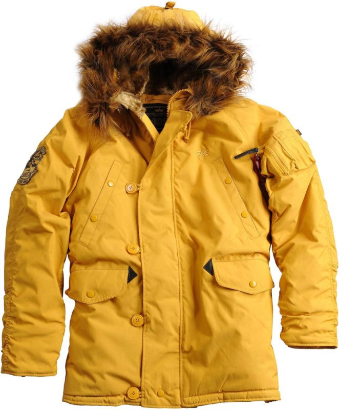 ALPHA INDUSTRIES bunda Explorer, mustard, 193128/141