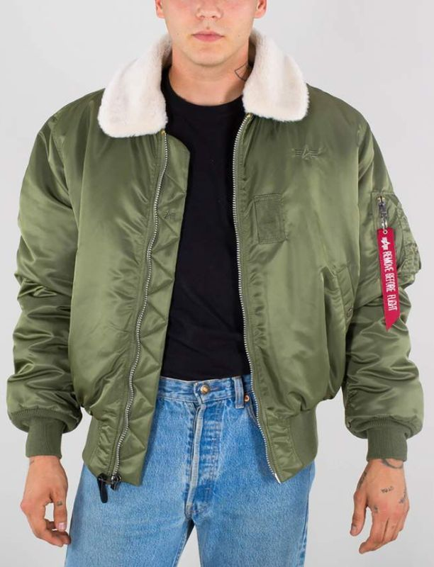 ALPHA INDUSTRIES bunda B 15, sage green, 100107/01