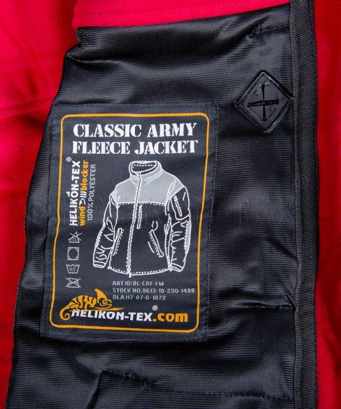 HELIKON bunda Classic Army Windblocker, fleece, čierna, BL-CAF-FM-01