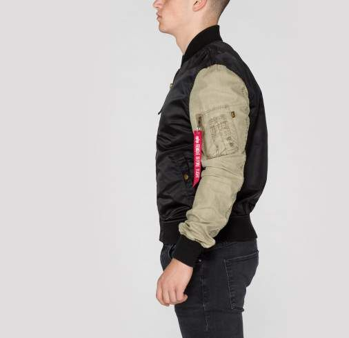 ALPHA INDUSTRIES bunda MA-1 Blend, čierna, 156106/03