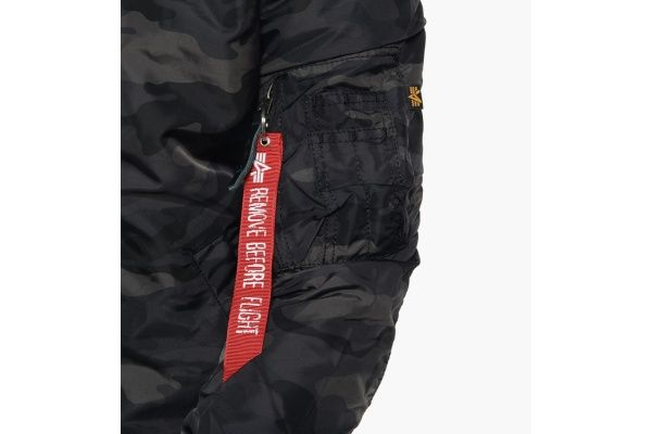 ALPHA INDUSTRIES bunda MA-1 TT, black camo, 191103/125