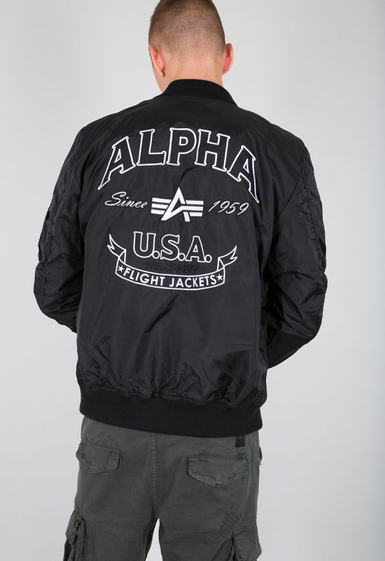 ALPHA INDUSTRIES bunda MA-1 TT Patch SF, čierna, 196102/03