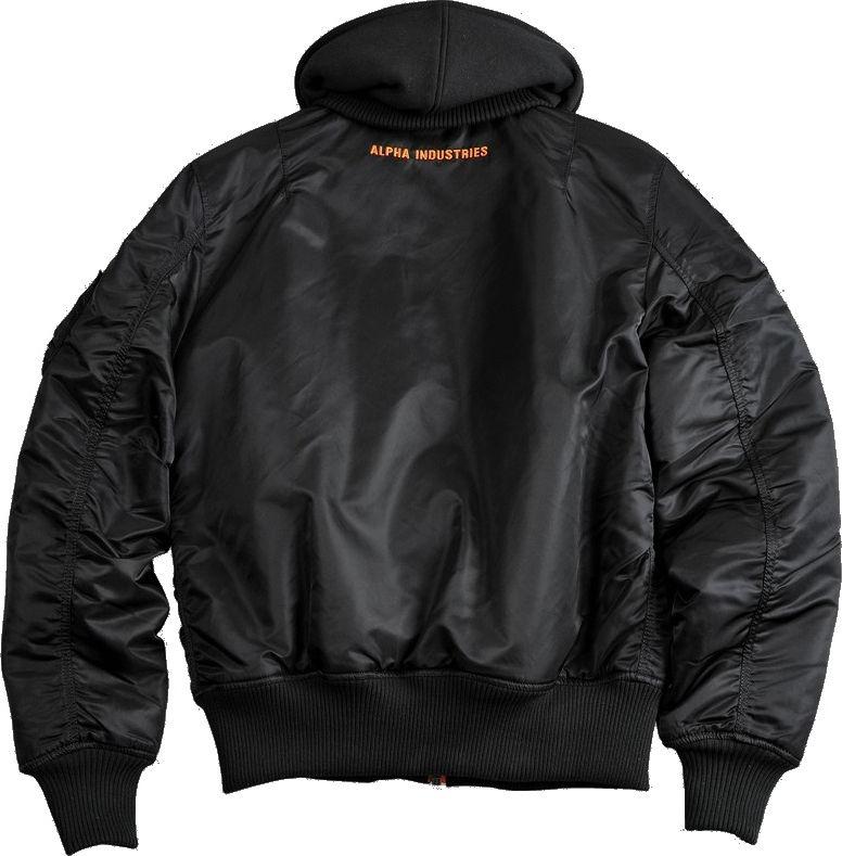 ALPHA INDUSTRIES bunda MA-1 D-Tec SE, čierna/oranžová, 133104/241