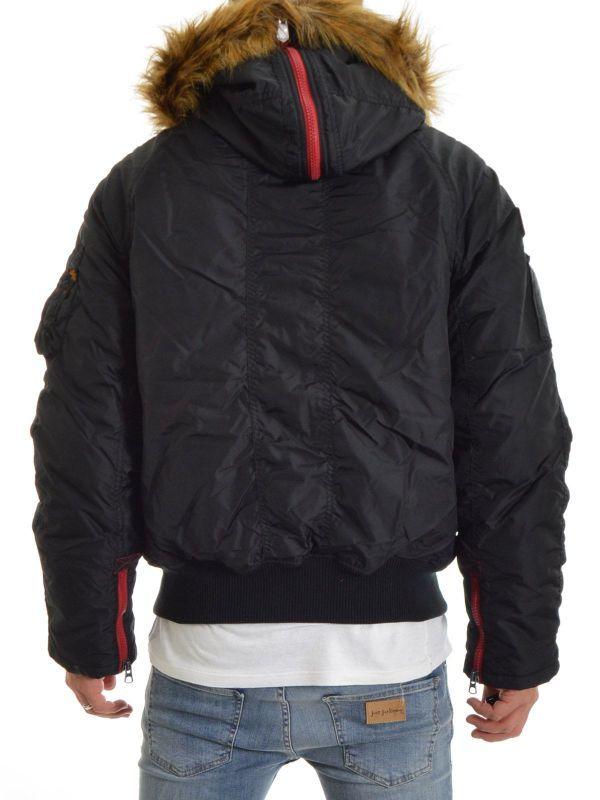 ALPHA INDUSTRIES bunda PPS N2B, čierna/červená, 133147/94