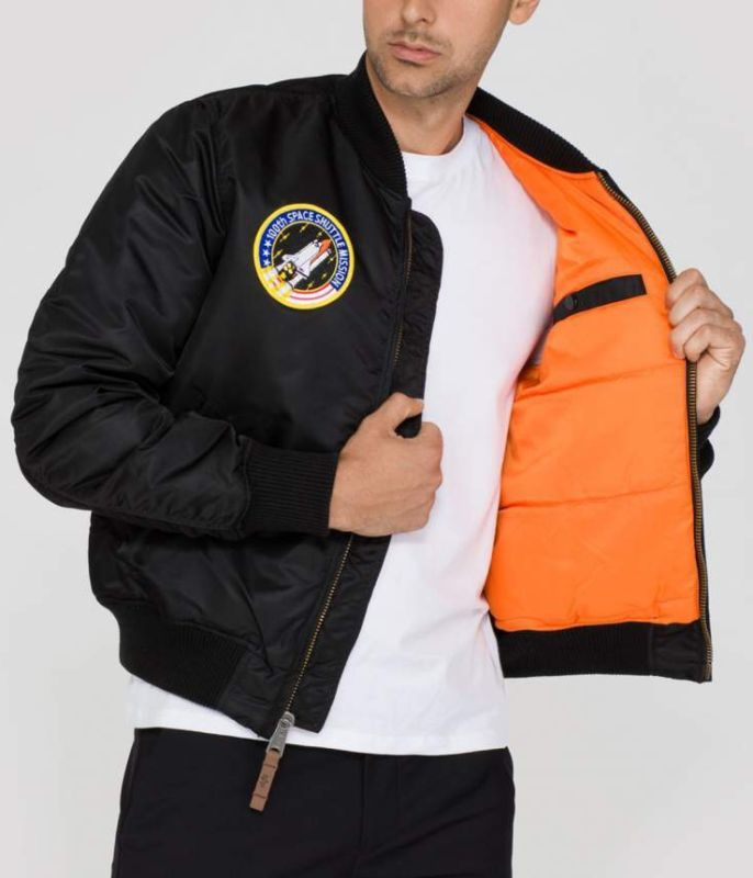 ALPHA INDUSTRIES bunda MA-1 VF NASA, čierna, 166107/03