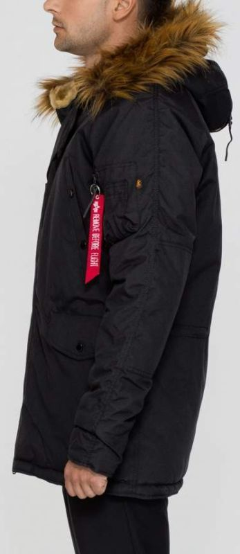 ALPHA INDUSTRIES bunda Explorer, čierna, 193128/03