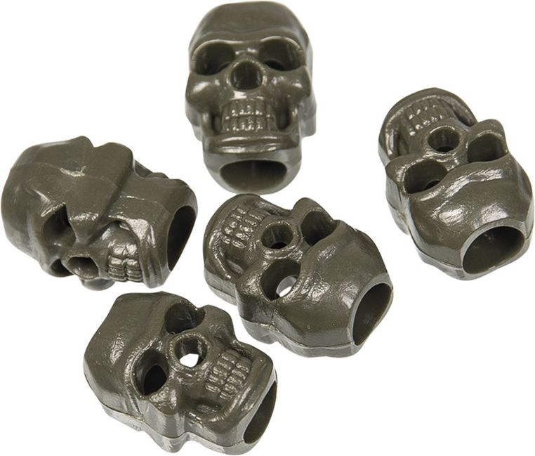 "MilTec Koncovka na šnúru ""Cord Stopper Skull"" (13458211) - Olivová"