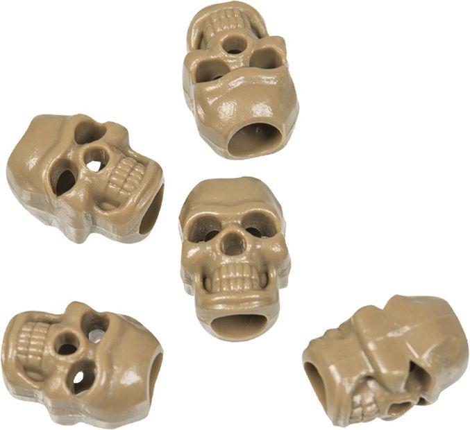 """MilTec Koncovka na šnúru """"Cord Stopper Skull"""" (13458215) - Coyote"""