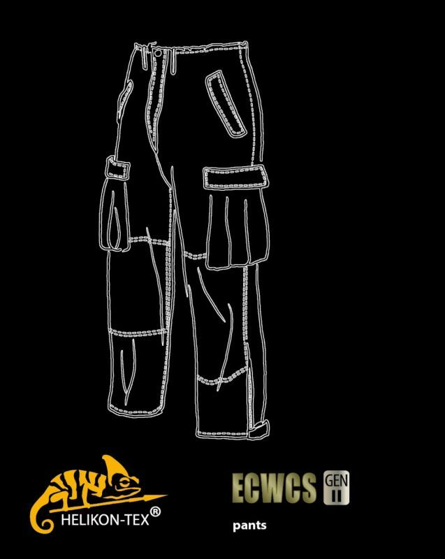 HELIKON nohavice ECWCS, H2O Proof, čierne, SP-EC2-NL-01