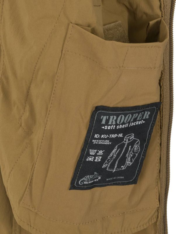 HELIKON bunda Trooper, softshell, olivová, KU-TRP-NL-02
