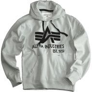 ALPHA INDUSTRIES Mikina BIG A Classic Hoody, šedá, 103308/17