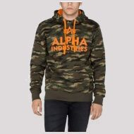 ALPHA INDUSTRIES Mikina Foam Print Hoody, woodland, 143302/12