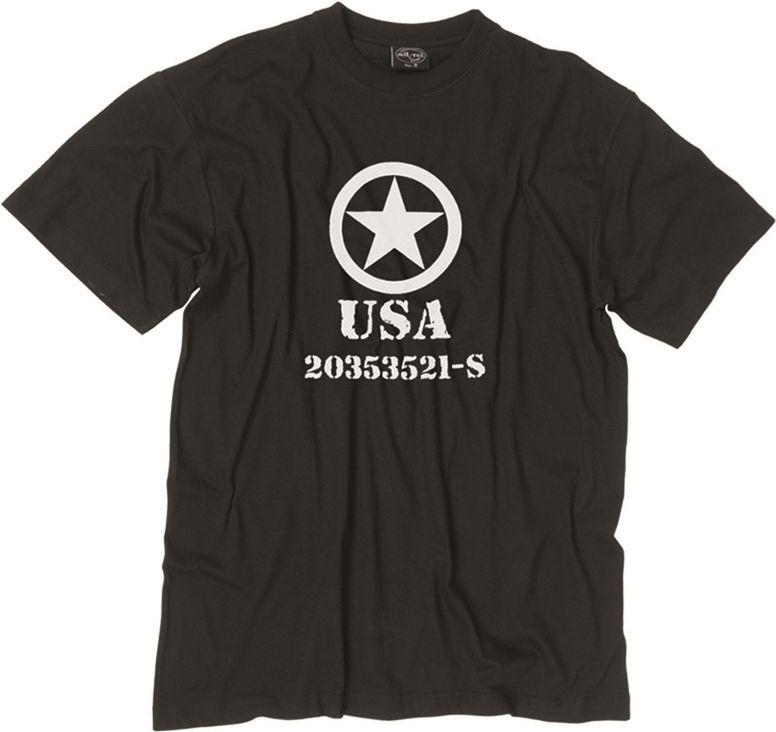 MILTEC Tričko Allied Star - čierne, (11053002)