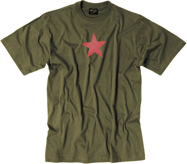 MILTEC Tričko Red Star - olivové, (11064101)