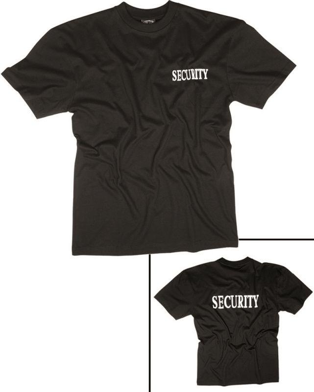 MILTEC Tričko SECURITY - čierne, (12062102)