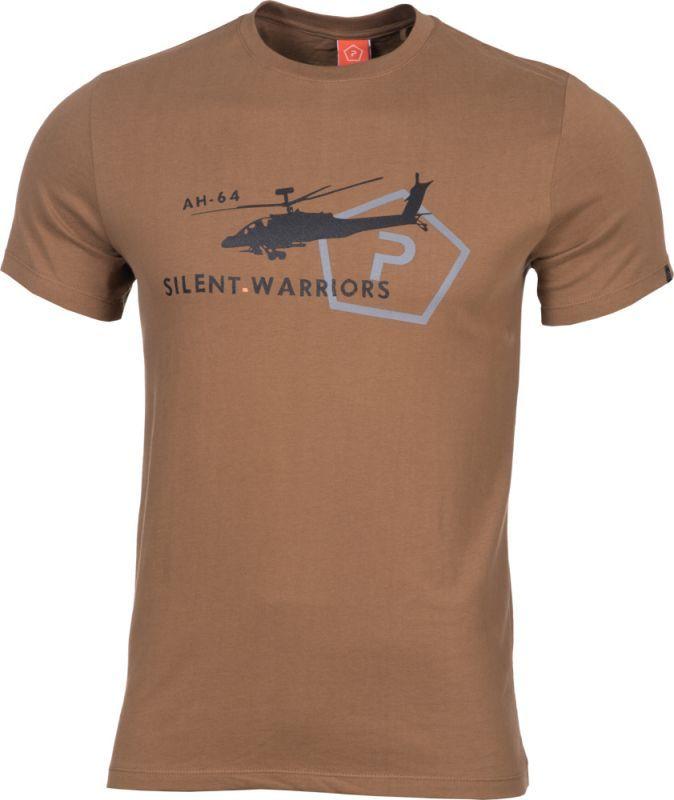 PENTAGON Tričko AH-64 HELICOPTER - coyote, (K09012-HE-COY)