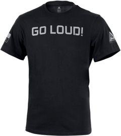 """DIRECT ACTION Tričko Logo 2""""Go loud"""" - čierne, (TS-LD2P-CTN-BLK)"""