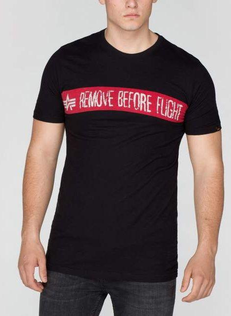 ALPHA INDUSTRIES tričko Remove Before Flight, čierne, 166507/03