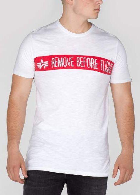 ALPHA INDUSTRIES tričko Remove Before Flight, biele, 166507/09