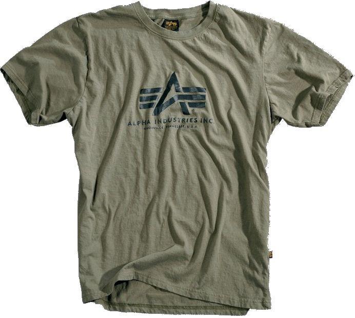 ALPHA INDUSTRIES tričko BASIC, olivové, 100501/11
