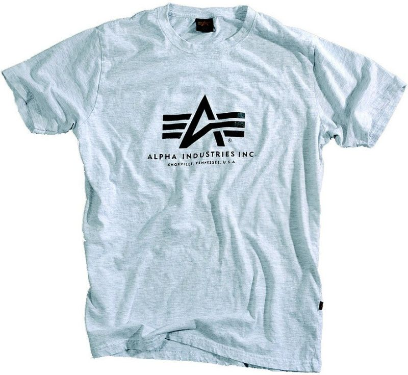 ALPHA INDUSTRIES tričko BASIC, šedé, 100501/17