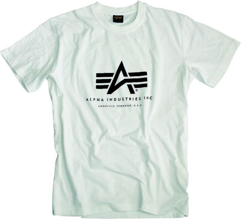 ALPHA INDUSTRIES tričko BASIC, biele, 100501/09